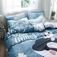 """Полуторный комплект постельного белья """"Дельфин и котенок"""" (хлопок), фото 4"""