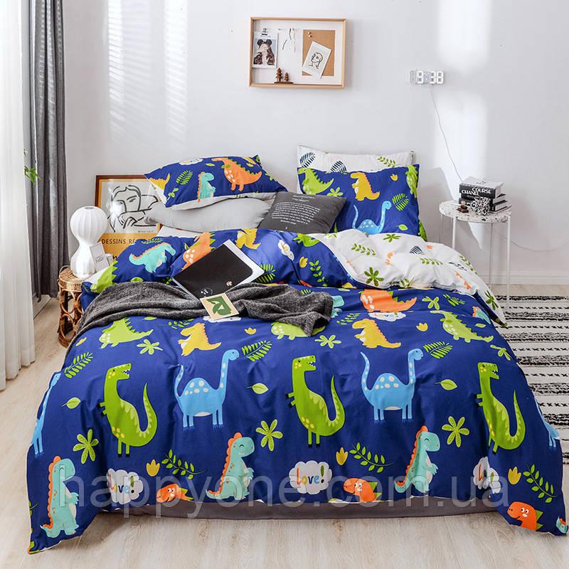"""Полуторный комплект постельного белья """"Эра динозавров"""" (хлопок)"""