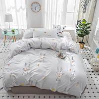 """Полуторный комплект постельного белья """"Зайчонок и цветы"""" (поликоттон), фото 1"""