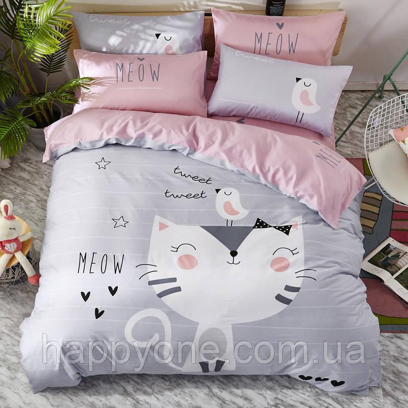 Полуторный комплект постельного белья Meow (хлопок)
