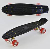 Пенні борд Best Board 0990, колеса PU світяться, чорний
