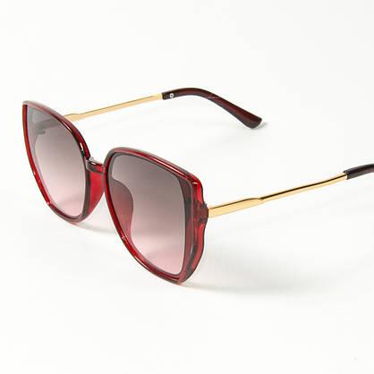 Оптом женские солнцезащитные очки кошачий глаз (арт. 2311/3) коричнево-красные, фото 3
