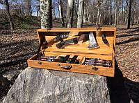 """Набор шампуров """"Рысь"""" Gorillas BBQ в деревянной коробке"""
