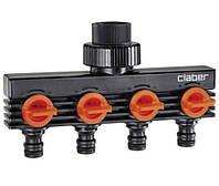 """Распределитель Claber 3/4""""В выход 4-х канальный адаптер коннектора (85800000)"""