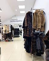 Женский норковый полушубок с капюшоном махаон 42 44