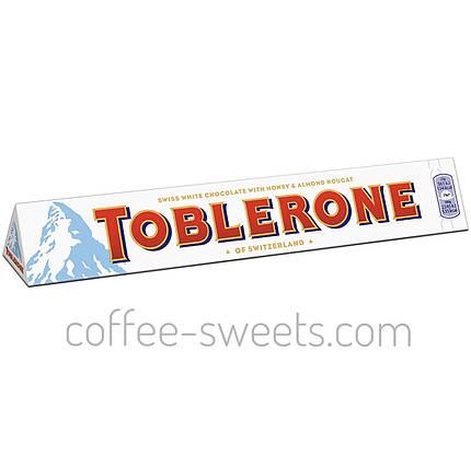 Шоколад Toblerone білий з нугою з меду і мигдалем 100 гр, фото 2