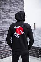 "Худи мужское весеннее осеннее jacket ""Lebedi""  black / кофта с капюшоном / ЛЮКС, фото 1"