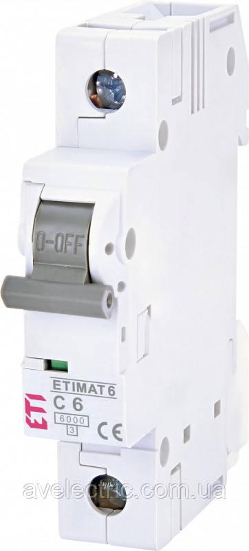 Автоматический выключатель ETIMAT 6 1p B 4 ETI, 2111511