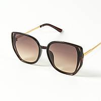 Оптом женские солнцезащитные очки кошачий глаз (арт. 2311/4) коричневые, фото 1