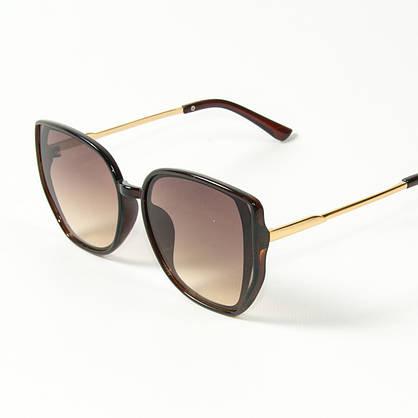 Оптом женские солнцезащитные очки кошачий глаз (арт. 2311/4) коричневые, фото 3