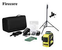 Лазерный уровень/лазерный нивелир 3D Firecore F93T-XG с сумкой + Штатив 3м с креплением
