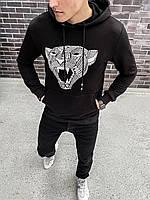 """Худи мужское весеннее осеннее jacket """"Strong""""  black / кофта с капюшоном / ЛЮКС, фото 1"""
