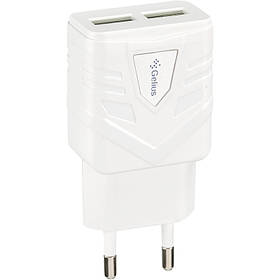 СЗУ - Адаптер Gelius Ultra Optimus GU-HC03 2USB 1A белый