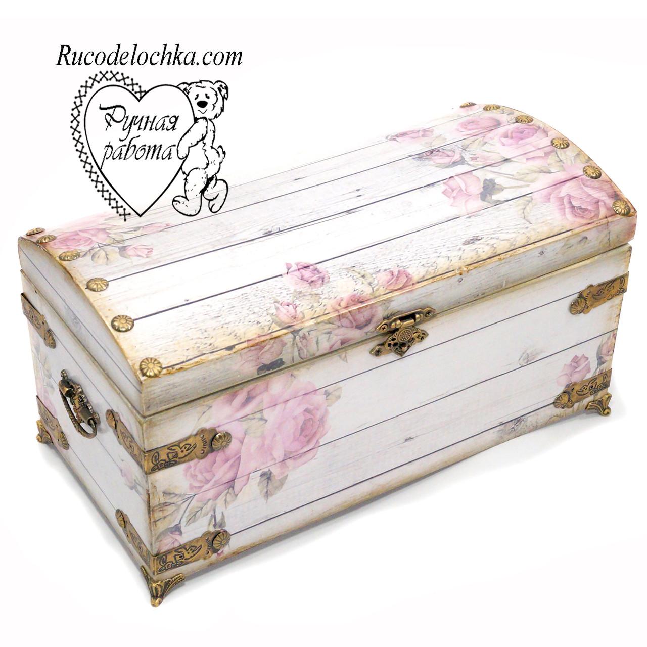 Скринька скриня Троянди, скринька ручної роботи 30 * 15 *14 см