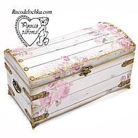 Скринька скриня Троянди, скринька ручної роботи 30 * 15 *14 см, фото 1