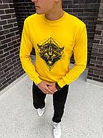 """Худи мужское весеннее осеннее jacket """"Tigr"""" yellow / кофта с капюшоном / ЛЮКС, фото 1"""