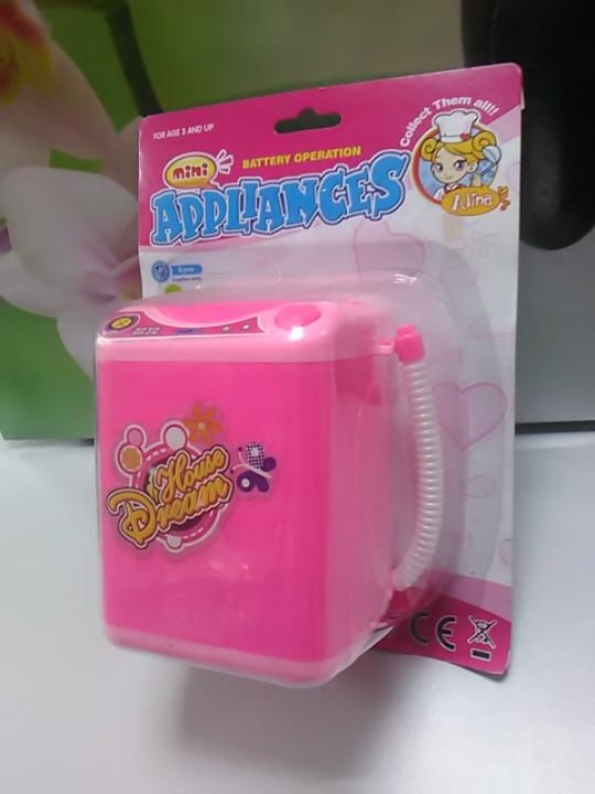 Детская розовая стиральная машинка для девочек