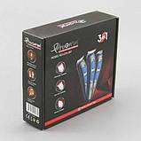Аккумуляторная машинка для стрижки волос бритья бороды висков 3 в 1 Gemei PRO Original GM-587, фото 6