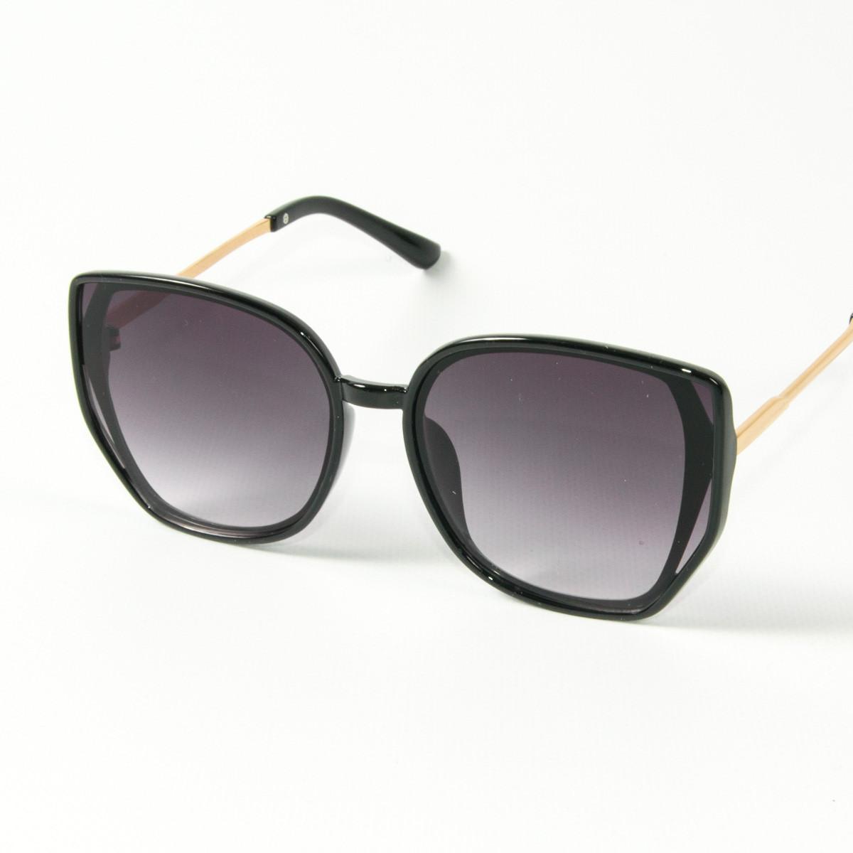 Оптом женские солнцезащитные очки кошачий глаз (арт. 2311/6) черные