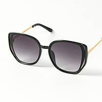 Оптом женские солнцезащитные очки кошачий глаз (арт. 2311/6) черные, фото 1