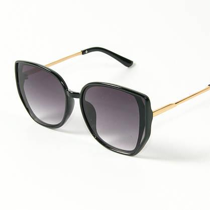 Оптом женские солнцезащитные очки кошачий глаз (арт. 2311/6) черные, фото 3