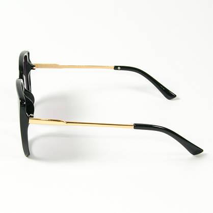 Оптом женские солнцезащитные очки кошачий глаз (арт. 2311/6) черные, фото 2
