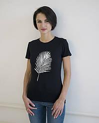 """Жіноча футболка з принтом """"Пальмова гілка"""""""