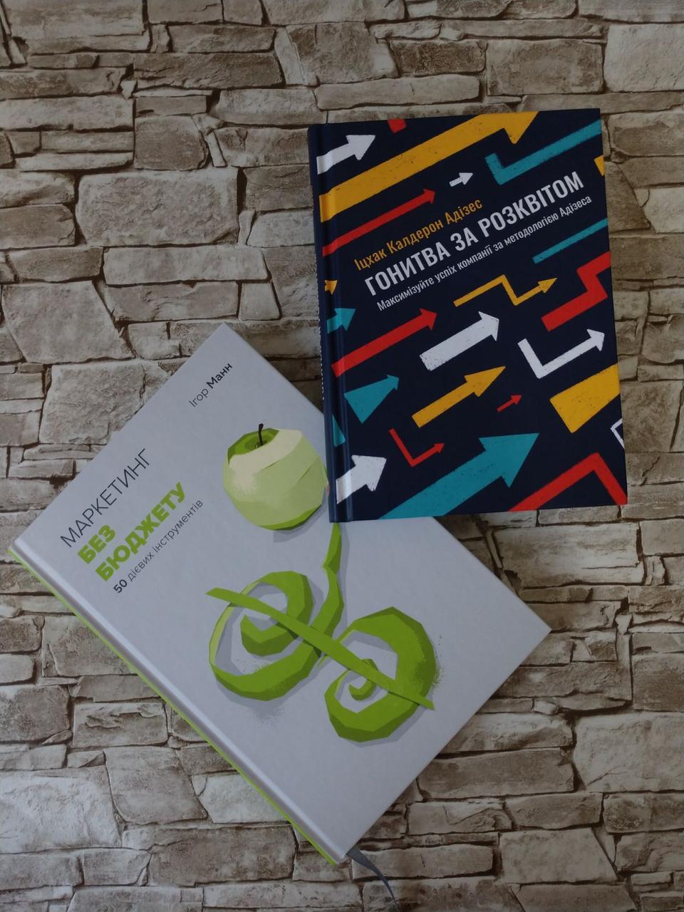"""Набор книг """"Маркетинг без бюджету"""" І. Манн, """"Гонитва за Розквітом"""" І. К. Адізес"""