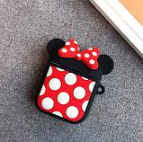 Мультяшный чехол IQEA Mickey Mouse с кольцом для наушников Apple AirPods TWS i10 i12 i13, фото 2