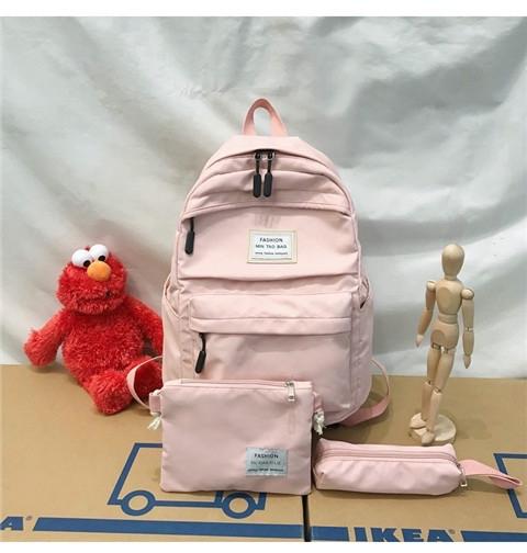 Рюкзак набор женский 3в1 ( клатч, пенал) розовый (AV237)
