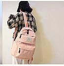 Рюкзак набор женский 3в1 ( клатч, пенал) розовый (AV237), фото 4