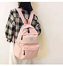 Рюкзак набор женский 3в1 ( клатч, пенал) розовый (AV237), фото 5