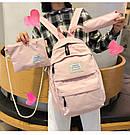 Рюкзак набор женский 3в1 ( клатч, пенал) розовый (AV237), фото 6