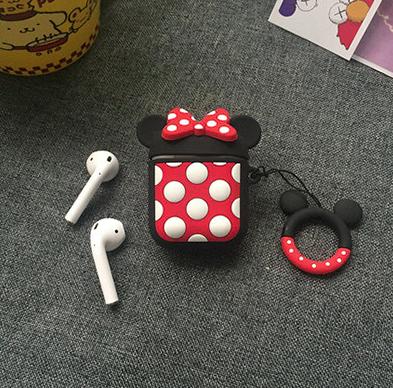Мультяшный чехол IQEA Mickey Mouse с кольцом для наушников Apple AirPods TWS i10 i12 i13