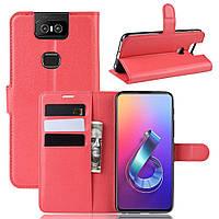 Чохол-книжка Litchie Wallet для Asus Zenfone 6 ZS630KL Red