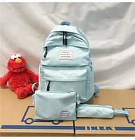 Рюкзак набор женский 3 в 1 ( клатч, пенал) голубой (AV237)