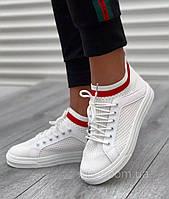 Стильные былые кроссовки в сеточку, фото 1