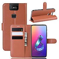 Чохол-книжка Litchie Wallet для Asus Zenfone 6 ZS630KL Brown