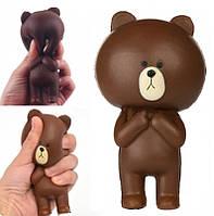 Игрушка сквиш Гризли | Мягкая игрушка-антистресс | Squishy Медведь