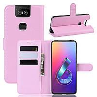Чохол-книжка Litchie Wallet для Asus Zenfone 6 ZS630KL Pink