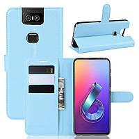Чохол-книжка Litchie Wallet для Asus Zenfone 6 ZS630KL Blue