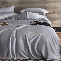 Комплект постельного белья Bella Villa сатин Евро серый
