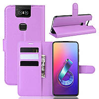 Чохол-книжка Litchie Wallet для Asus Zenfone 6 ZS630KL Violet