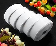 (5 рулонов) РЕПСОВАЯ лента ширина 2,5см (25 ярдов) Цена за блок, цвет - Белый
