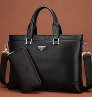 Стильная деловая сумка-портфель FEIDIKA BOLO + Кошелек-клатч В ПОДАРОК! Сумка для документов, под формат А4.