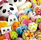 Игрушка сквиш Панда большая | Мягкая игрушка-антистресс | Squishy Панда девочка, фото 9