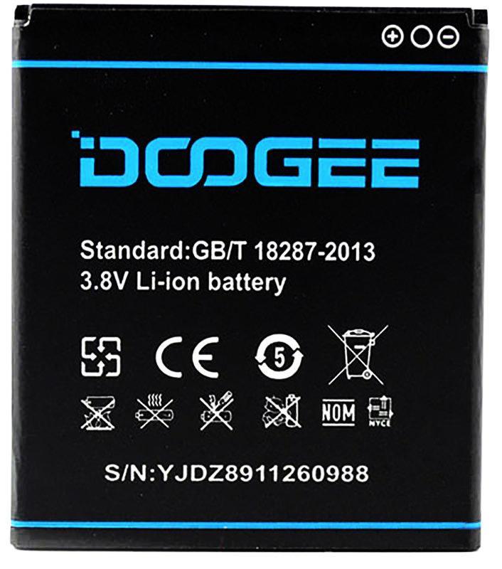 Аккумулятор АКБ Doogee B-DG800 для Doogee DG800 Valencia (Li-ion 3.8V 2000mAh) Оригинал Китай