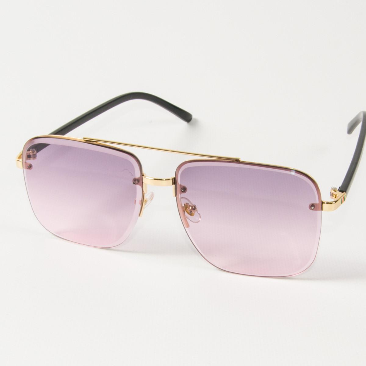 Женские квадратные солнцезащитные очки  (арт. 6278/2) розовые