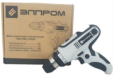 Сетевой шуруповерт Элпром ЭШС-980/2