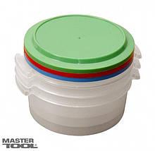 Судочки пластиковые пищевые 1 л, набор 3 шт Mastertool 92-0059
